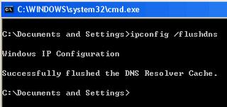نحوه پاک کردن DNS Cache