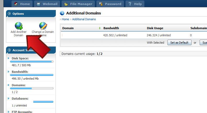 آموزش Addon Domain در دایرکت ادمین